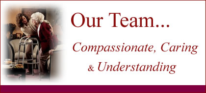 Team of Home Care Professionals: nurse, caregiver, personal care aide, companion, certified nurse aide, live in and hourly